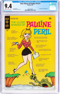 The Close Shaves of Pauline Peril #1 (Gold Key, 1970) CGC NM 9.4 Cream to off-white pages