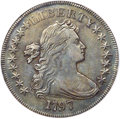 Early Dollars, 1797 $1 9x7 Stars, Large Letters, B-1, BB-73, R.3 -- Rim Filing -- PCGS Genuine. XF Details....