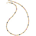 Estate Jewelry:Necklaces, Multi-Color Sapphire, Gold Necklace . ...