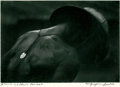 "Photography:Signed, W. Eugene Smith Signed Silver Gelatin Photo Print entitled ""Africa- Leprosy Patient"" in pencil by Smith to the left of his s..."