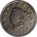 Large Cents: , 1831 1C Large Letters--Full Brockage Reverse--VF20 PCGS. N-10, R.3.The reverse of this coin is a brockage image of the obv...
