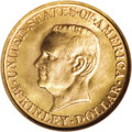 Commemorative Gold: , 1917 G$1 McKinley MS67 NGC. This Superb Gem specimen of the scarce1917 McKinley gold dollar is equal to the finest coins e...