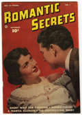 "Golden Age (1938-1955):Romance, Romantic Secrets #1 Davis Crippen (""D"" Copy) pedigree (Fawcett,1949) Condition: FN+...."