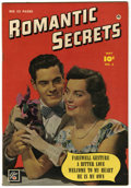 "Golden Age (1938-1955):Romance, Romantic Secrets #6 Davis Crippen (""D"" Copy) pedigree (Fawcett,1950) Condition: VF...."