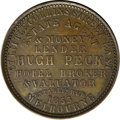 Australian Tokens: , Australian 19th Century Merchant Token. Issued by Hugh Peck, EstateAgent, Melbourne, Victoria. This piece is listed in Krau...