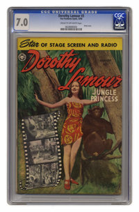 Dorothy Lamour #3 (Fox, 1950) CGC FN/VF 7.0 Cream to off-white pages. Photo cover. Wally Wood art. Overstreet 2005 FN 6...