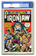 Bronze Age (1970-1979):Miscellaneous, Ironjaw #4 (Atlas-Seaboard, 1975) CGC VF+ 8.5 White pages. Lastissue of the title. Origin of Ironjaw. Pablo Marcos cover an...