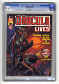 """Magazines:Horror, Dracula Lives! #6 (Marvel, 1974) CGC NM+ 9.6 Off-white to white pages. Bram Stoker adaptation. """"Dracula Has Risen From the G..."""