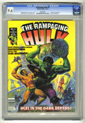 Magazines:Superhero, The Rampaging Hulk #6 (Marvel, 1977) CGC NM+ 9.6 White pages. Hulkvs. Sub-MAriner. Al Milgrom frontispiece. Ken Barr cover....