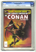 Magazines:Superhero, Savage Sword of Conan #87 (Marvel, 1983) CGC NM 9.4 White pages.John Pound cover. John Buscema and Ernie Chan art. Ernie Ch...
