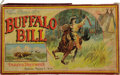 "Antiques:Toys, Vintage Buffalo Bill Board Game, 15"" x 9"" x 1"", Parker Brothers, Salem, Massachusetts. This dramatic production, copyrighted..."