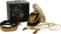 Military & Patriotic:Indian Wars, Complete Model 1881 Infantry Officer's Dress Helmet, Accessories, and Case. A beautiful example of an officer's dress helmet... (Total: 2 )