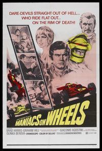 "Maniacs on Wheels (Cinemation Industries, 1970). One Sheet (27"" X 41""). Sports Drama. Starring Graham Hill, Br..."