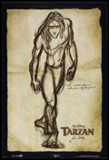 "Movie Posters:Animated, Tarzan (Buena Vista, 1999). Advance One Sheet (27"" X 40""). Animated. Starring the voices of Brian Blessed, Glenn Close, Minn..."