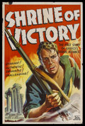 "Movie Posters:Documentary, Shrine of Victory (20th Century Fox, 1943). One Sheet (27"" X 41""). Docudrama. Directed by Charles Hasse. Produced by Michael..."