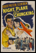 "Movie Posters:War, Night Plane from Chungking (Paramount, 1943). One Sheet (27"" X 41"")Style A. War. Starring Robert Preston, Ellen Drew, Otto ..."