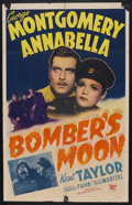 "Movie Posters:War, Bomber's Moon (Twentieth Century Fox, 1943). One Sheet (27"" X 41"").War. Starring George Montgomery, Annabella, Kent Taylor ..."