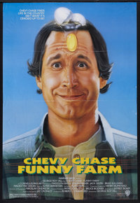 """Funny Farm (Warner Brothers, 1988). One Sheet (27"""" X 41""""). Comedy. Starring Chevy Chase, Madolyn Smith, Kevin..."""