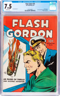 Golden Age (1938-1955):Science Fiction, Four Color #10 Flash Gordon (Dell, 1942) CGC VF- 7.5 Off-whitepages....