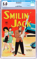 Golden Age (1938-1955):Adventure, Four Color #4 Smilin' Jack (Dell, 1942) CGC VG/FN 5.0 Cream to off-white pages....