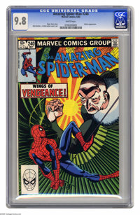 The Amazing Spider-Man #240 (Marvel, 1983) CGC NM/MT 9.8 White pages. Vulture appearance. John Romita Jr. and Bob Layton...