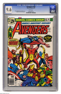 Avengers #148 (Marvel, 1976) CGC NM+ 9.6 White pages. Jack Kirby cover. George Perez and Sam Grainger art. Overstreet 20...