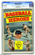 Golden Age (1938-1955):Non-Fiction, Baseball Heroes #nn (Fawcett, 1952) CGC FN- 5.5 Cream to off-whitepages. Babe Ruth and Walter Johnson photo cover. Hall of ...