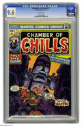 Bronze Age (1970-1979):Horror, Chamber of Chills #11 (Marvel, 1974) CGC NM+ 9.6 White pages.Overstreet 2005 NM- 9.2 value = $12. CGC census 5/05: 1 in 9.6...
