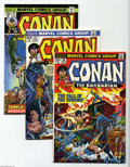 Bronze Age (1970-1979):Miscellaneous, Conan the Barbarian Group (Marvel, 1973-77) Condition: Average NM-.Twenty five-issue lot includes #26, 33, 43, 48 (origin r... (25Comic Books)