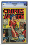 Golden Age (1938-1955):Crime, Crimes by Women #9 (Fox Features Syndicate, 1949) CGC VF+ 8.5 Off-white to white pages. This is the highest grade given this...