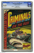 Golden Age (1938-1955):Crime, Criminals on the Run V4#4 (Curtis, 1948) CGC VF 8.0 Cream to off-white pages. L. B. Cole cover. Al McWilliams art. This is t...