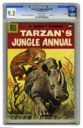 Silver Age (1956-1969):Adventure, Dell Giant Comics Tarzan's Jungle Annual #6 File Copy (Dell, 1957) CGC NM- 9.2 Off-white pages. Painted cover. Jesse Marsh a...