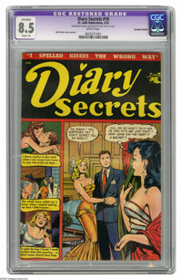 Diary Secrets #10 Canadian Edition (St. John, 1952) CGC Apparent VF+ 8.5 Slight (A) White pages. Matt Baker cover and ar...
