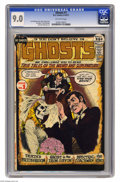 Bronze Age (1970-1979):Horror, Ghosts #1 (DC, 1971) CGC VF/NM 9.0 Off-white pages. Nick Cardycover. Jim Aparo, Sam Glanzman, Carmine Infantino, and Tony D...