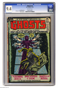 Ghosts #3 (DC, 1972) CGC NM 9.4 Off-white pages. Nick Cardy cover. Tony DeZuniga, Jerry Grandenetti, and George Tuska ar...