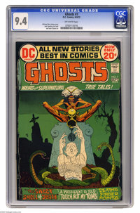 Ghosts #7 (DC, 1972) CGC NM 9.4 Off-white pages. Michael William Kaluta cover. Jack Sparling, Art Saaf, and John Calnan...