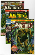 Bronze Age (1970-1979):Horror, Man-Thing #1-12 Group (Marvel, 1974) Condition: Average FN/VF.Twelve-issue lot includes #1 (second Howard the Duck appearan...(12 Comic Books)