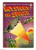 Golden Age (1938-1955):Science Fiction, Mystery in Space #15 (DC, 1953) Condition: VG. Flying saucer cover.Murphy Anderson cover art. Anderson, Carmine Infantino, ...