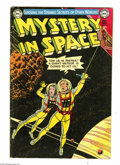 Golden Age (1938-1955):Science Fiction, Mystery in Space #16 (DC, 1953) Condition: VG+. Murphy Andersoncover art. Anderson and Carmine Infantino interior art. Over...