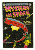 Golden Age (1938-1955):Science Fiction, Mystery in Space #19 (DC, 1954) Condition: VG+. Murphy Andersoncover art. Virgil Finlay, Carmine Infantino, Gil Kane, Mort ...