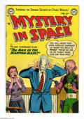 Golden Age (1938-1955):Science Fiction, Mystery in Space #20 (DC, 1954) Condition: FN-. Murphy Andersoncover art. Carmine Infantino, Gil Kane, and Mort Drucker int...