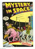 Golden Age (1938-1955):Science Fiction, Mystery in Space #21 (DC, 1954) Condition: VG+. Murphy Andersoncover art. Carmine Infantino and Gil Kane interior art. Over...