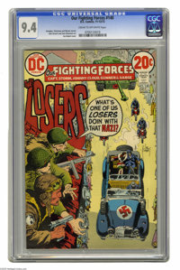 Our Fighting Forces #140 (DC, 1972) CGC NM 9.4 Cream to off-white pages. Featuring the Losers. Joe Kubert cover. John Se...