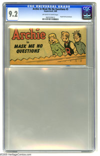Oxydol-Dreft #5 Archie in Mask Me No Questions (Toby Publishing, 1950) CGC NM- 9.2 Off-white to white pages. Termed &quo...