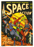 Golden Age (1938-1955):Science Fiction, Space Action #1 (Ace, 1952) Condition: VG+. Lou Cameron art.Overstreet 2005 VG 4.0 value = $150....