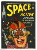 Golden Age (1938-1955):Science Fiction, Space Action #2 (Ace, 1952) Condition: FN-. Lou Cameron art.Overstreet 2005 FN 6.0 value = $165....