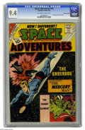Silver Age (1956-1969):Science Fiction, Space Adventures #44 White Mountain pedigree (Charlton, 1962) CGC NM 9.4 Off-white to white pages. First appearance of Mercu...