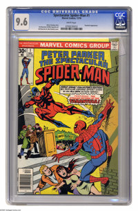 Spectacular Spider-Man #1 (Marvel, 1976) CGC NM+ 9.6 White pages. Tarantula appearance. Sal Buscema and John Romita Jr...