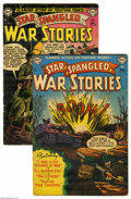 Golden Age (1938-1955):War, Star Spangled War Stories Group (DC, 1952). Flaming action onfighting fronts, in the first two issues of Star Spangled Wa... (2Comic Books)