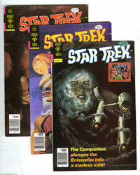 Star Trek Group (Gold Key, 1969-78) Condition: Average FN/VF. This 66-issue lot includes #4 (one copy), 17 (nine copies)...